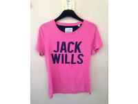 Womens size 12 pink Jack Wills short sleeve top