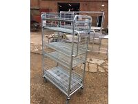Commercial Utility Service Trolley with 4 Shelves