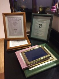 various picture frames, mostly never used