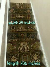 Woven backed stair carpet
