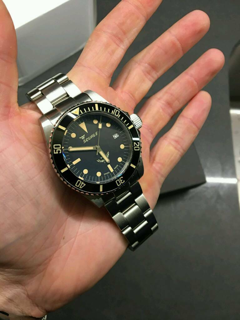 Squale 30 Atmos Vintage Ceramica with box and papers