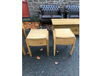 Pair of solid oak bedside tables * free furniture delivery *