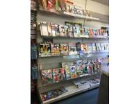 Newspaper and Magazine Retail shop display