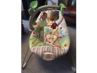 Fisher Price Comfy Time Baby Bouncer - boxed in very good condition
