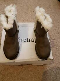 Winter Firetrap boots ugg style size 3