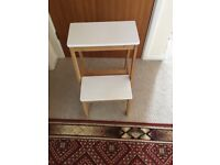 Wooden Stool with step never used