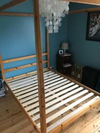 Futon Company Four poster bed - for under £160 incl. mattress