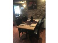 Restaurant/ cafe tables light wood effect 1m by 1m