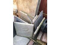 Garden paving slabs