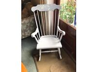 Grey Upcycled vintage rocking chair