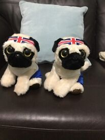 GB pug soft toys will sell separately