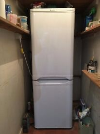 White Hotpoint fridge/freezer combo. Under year old. Clean. Works perfectly.