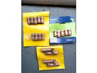JOB LOT 15MM SOLDER EQUAL TEE AND STRAIGHT COUPLING PLUMBING JOINTS