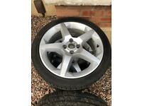 """Vauxhall 18"""" Alloy Wheels set of 4"""