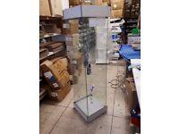 Glass UV light shop display