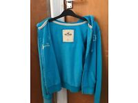 Woman's Hollister Blue Zip Up Hoodie - Size SMALL