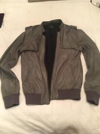 All saints men's soft leather jacket