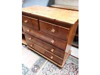 Pine drawers and bedside