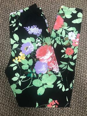 Vintage Agnes & Dora Black Vintage Floral Print Leggings S/M - Worn One Time Floral Print Leggings
