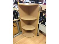 Two free open shelf corner units *collection only*