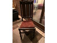 Antique carved chairs ... set of 4