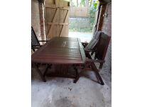 Garden table and Chairs in Hardwood made by Harbo of Sweden