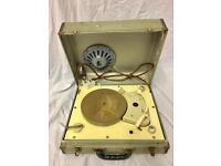 Stella vintage portable record player 1960's ONO
