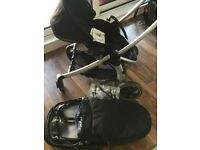 Maxi-Cosi Elea Pushchair and Foldable Carry Cot, Black Raven
