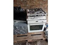 Gas hobs and electric ovens and fridge