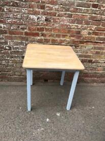 Small pine top dining table