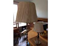 Ikea standard lamp and matching side lamp