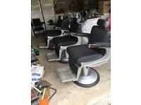 3 Belmont Apollo barbers chairs