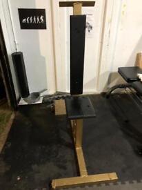 Seated Shoulder Press Bench with platform