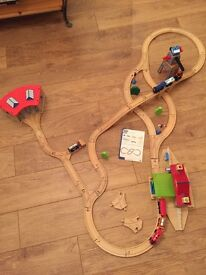 Early Learning Centre train set and trains, crane, bridge and station great condition