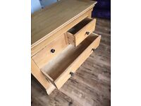 Cotswoldco light oak 2 + 2 chest of drawers