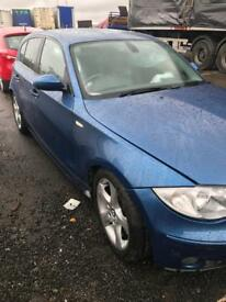 2006 BMW 116i ES Sydney blue metallic N45B16A breaking