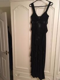 Perfect for the Christmas party! Black Evening Gown (Size 10-12)