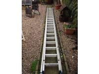Double class 1 aluminium ladders