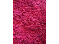 //(%)\ NEXT THICKNESS PILE DARK PINK RUG
