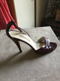 BEAUTIFUL BROWN LEATHER HIGH HEELS SHOES - FROM FERDIN - MADE IN ITALY - UK SIZE 4 - AS NEW -