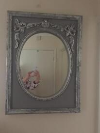 Vintage French style silver mirror