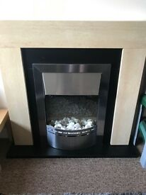 Fireplace, one years old, good condition. Still sale in Argos for £299