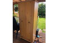 2 Door Wardrobe with Shelf & Hanging Rail Bedroom Storage Furniture