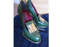 Tommy Hilfiger shoe green leather new frm USA