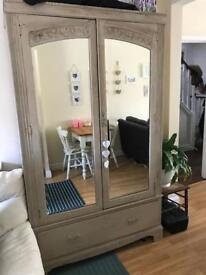 Shabby Chic Wardrobe painted with Annie Sloane Chalk Paint