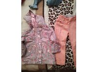 Next girls coat and jeans