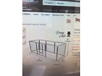 Dog/rabbit pen, eight panels with opening door not used, not suitable for room size
