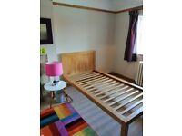 Sold oak 3ft single bed