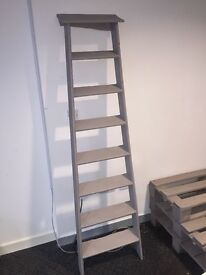Vintage ladders painted shabby chic