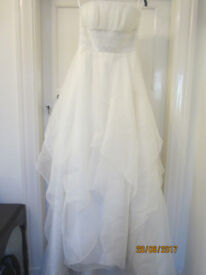UK SIZE 10 ATELIER IVORY WEDDING DRESS